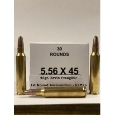5.56 45gr. Frangible Remanufactuired by 1st Round Ammunition