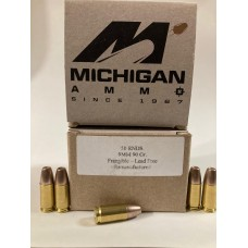 9mm 90gr. Frangible Flat Point Bullet [Box of 50] on Once-Fired Brass