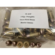 45 ACP 145gr. on Once-Fired Brass [Bag of 50]