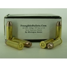 38 Special 100gr. Flat Point Non Toxic [Box of 50] New Brass