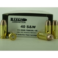 40 S&W L-Tech 115gr. Frangible Flat Point [Box of 50]
