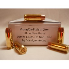 10 mm 135gr. Frangible FP Non-Toxic [Box of 50] New Brass