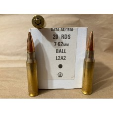 7.62x51 NATO 146gr. L2A2 Ball FMJ Box of 20 -