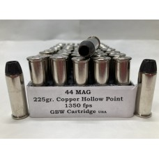 44 MAG 225gr. Solid Copper HP [Box of 50] by Legend Pro