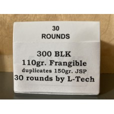 300 AAC BLK 110gr. Frangible by L-Tech [Box of 30]