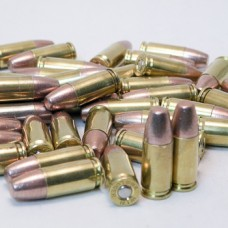 9mm 90gr. Frangible Flat Point Bullet [50 round box] on Once-Fired Brass